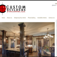 Custom Builders of Oklahoma website