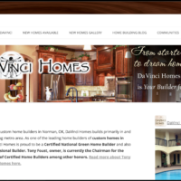 DaVinci Homes website